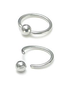 14g Annealed Stainless Steel Captive Bead Ring