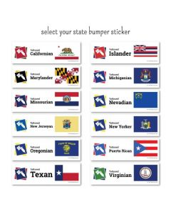Tattooed Pride State Bumper Stickers Qty 50+ — Pick Your State (Thumbnail)