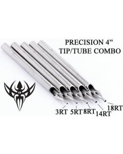 "4"" Precision Round Tattoo Tip - Tip Tube Set Up"