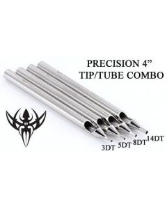 "4"" Precision Diamond Tattoo Tip - Tip Tube Set Up"