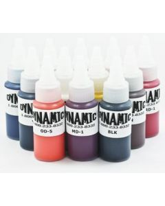 Dynamic Sample Pack Tattoo Ink 1oz Bottles - 12 Colors
