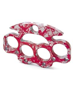 Small Suspension Brass Knuckle Rig - Blood Splatter Over Satin