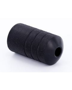 "Lightweight Autoclavable Ballistic Plastic 1"" Black Tattoo Grip - Type 7"