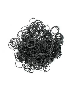 Black #12 Rubber Bands - 1/4lb Bag