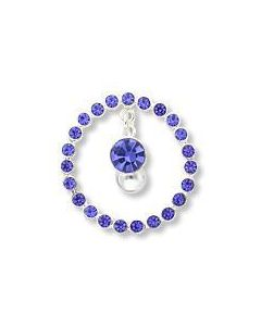 Circle of Jewels Navel Shield With Dangling Gem & Reverse Belly Ring