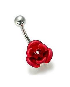 Rose Belly Button Ring