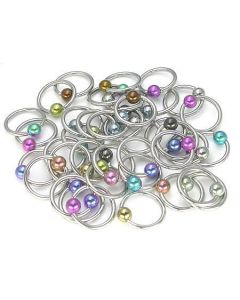 14g Captive Ring with Colored Ball- Grouping