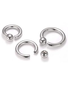 6g Steel Screw on Ball Ring Internally Threaded - Price Per 1