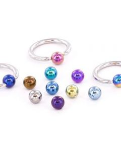 Titanium Captive Bead Ball- 3mm- Front View