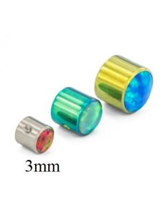 3mm Titanium Double Bezel Set Opal Captive Disc 1