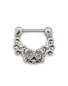 Antique Filigree Steel Septum Clicker (Thumbnail)