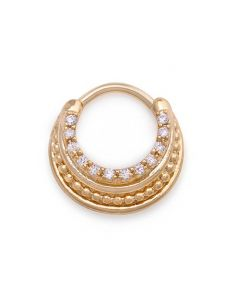 16g PVD Gold Crystal Decadence Septum Clicker (Thumbnail)