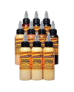 Andrea Afferni Signature Series Portrait Set of 10 - 1oz Bottles – Eternal Tattoo Ink - Display Box