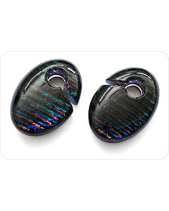 Iridescent Ovoid Ear Weight — Custom Made — Price Per 1 (Main)