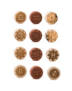 Zodiac Engraved Solid Wood Plug — All Zodiac Signs