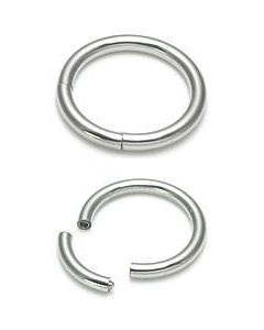 Segment ring top view with and without segment