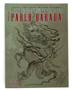 Sketchbook 2: A Book of Pablo Barada's Tattoo Art Designs Cover