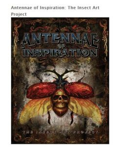 Antennae of Inspiration: The Insect Art Project – Hardback Book Front Cover