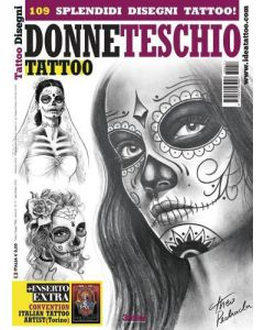 Skull Woman Tattoo Designs Book Cover