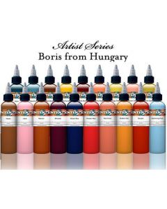 Boris From Hungary Color Line Set - Intenze Tattoo Ink - 19 Bottles