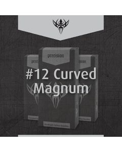 #12 Magnum Curved Weaved Premade Sterilized Tattoo Needles on Bar - Box of 50