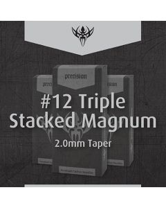 #12 Triple Stacked Magnum — Precision Needles — Box of 50 Premade Sterilized Tattoo Needles