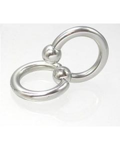 12g Stainless Steel Circular Barbell with Slave Doorknocker Ring