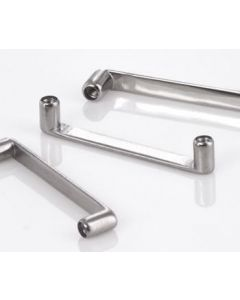 10g Flat Titanium Surface Barbells in 13mm-28mm Lengths With 2mm Rise, 90-Degree Angle Posts