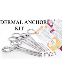 Microdermal Kit With 14g Titanium Dermal Anchors, Steel Disc Tops, Dermal Punches, & Other Dermal Tools