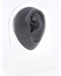Silicone Plug Left Ear Display - Black Body Bit Version 1