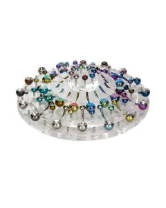 Empty 32 Piece Round Tiered Acrylic Display for Belly Button Rings 1