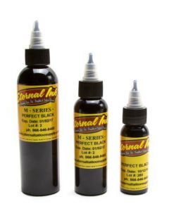 Perfect Black - M Series - Eternal Tattoo Ink - Pick Your Size 1oz, 2oz, or 4oz Bottle