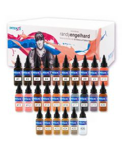Randy Engelhard Tattoo by Number Set – Intenze Tattoo Ink – Set of 25 - 1oz Bottles