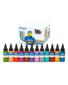 Chris 51 Geek Ink Set of 12 Cartoon Colors – Intenze Tattoo Ink – 1oz Bottles