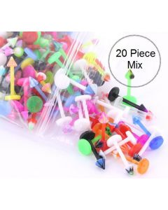 """16g 3/8"""" PTFE Labret with 3mm Cone - Price Per 20"""