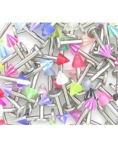 14g Labrets Deal with Acrylic Cones - Price Per 10