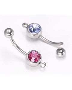 Single Jewel Belly Ring