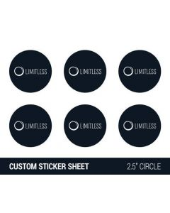 "Custom 2.5"" Round Sticker Sheet"