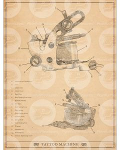 Tattoo Machine Anatomy Chart