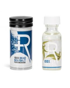 Recovery Aftercare Sea Salt and Tea Tree Oil Combo - Piercing Aftercare (Thumbnail)