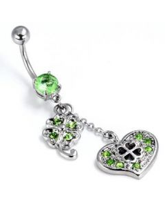 Irish Luck Belly Button Ring