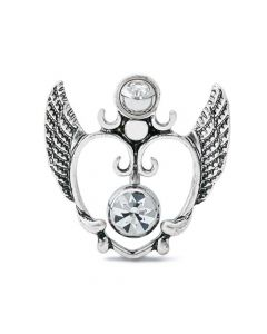 Soaring Love Navel Shield with Belly Button Ring (Thumbnail)