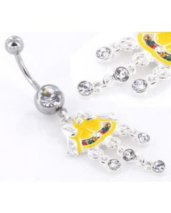 Holiday Bells Christmas Charm Belly Button Ring