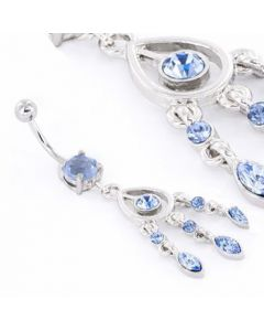 Shades of Blue Belly Button Ring