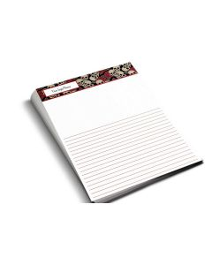 Notepads — Choose Your Size and Background — Red Skulls