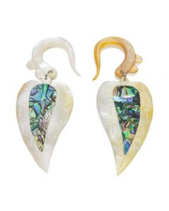 Mother of Pearl Hanger with Abalone Inlay Charm – Price Per 1 Pair 1