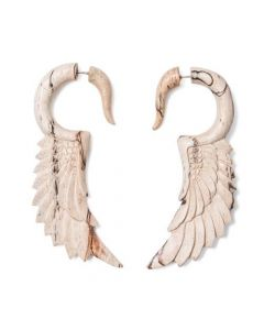 Tamarind Wood Nike's Wing Cheater Earring