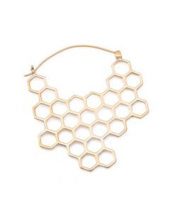 18g Polished Brass Save the Bees 56mm Earrings — Price Per 2