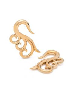 Triple Spiral Brass Ear Hangers — 6mm Thick — Price Per 2 (Thumbnail)