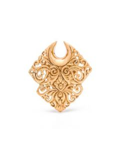 Diamond Filigree Brass Hanging Ear Plug — Price Per 2